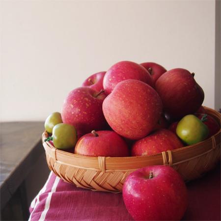 盛岡黒川の「mi cafe ミ カフェ」のりんご