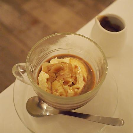 盛岡菜園のカフェ、バー、レストラン「Cafe RHINO カフェ ライノー」のアフォガード