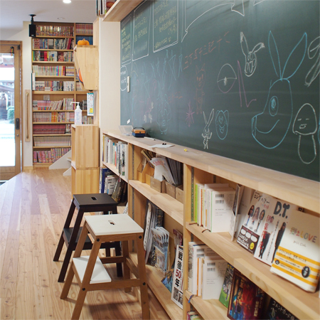 盛岡中ノ橋中ノ橋の「フキデチョウ文庫」の図書室
