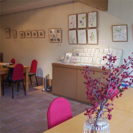 深沢紅子の美術館「野の花美術館」のカフェ