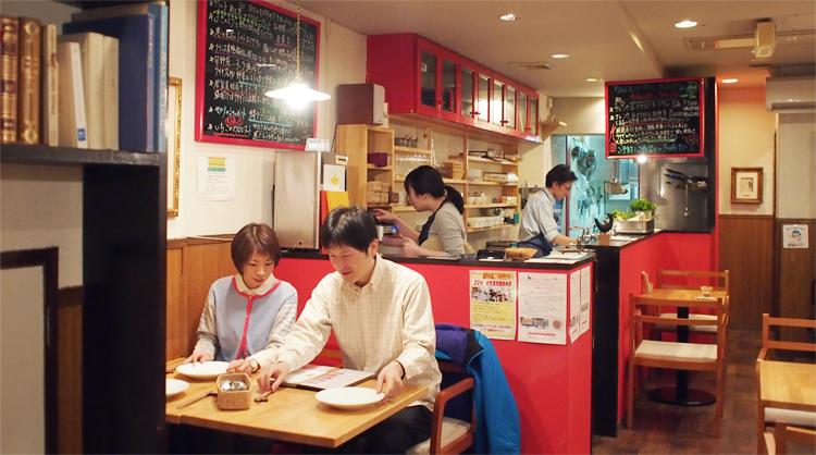 盛岡中ノ橋のマクロビレストラン「ウサギボタニカ」の店内