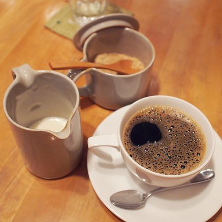盛岡中ノ橋のマクロビレストラン「ウサギボタニカ」のコーヒー
