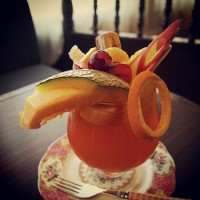 盛岡内丸の純喫茶「リーベ」のティーパンチ